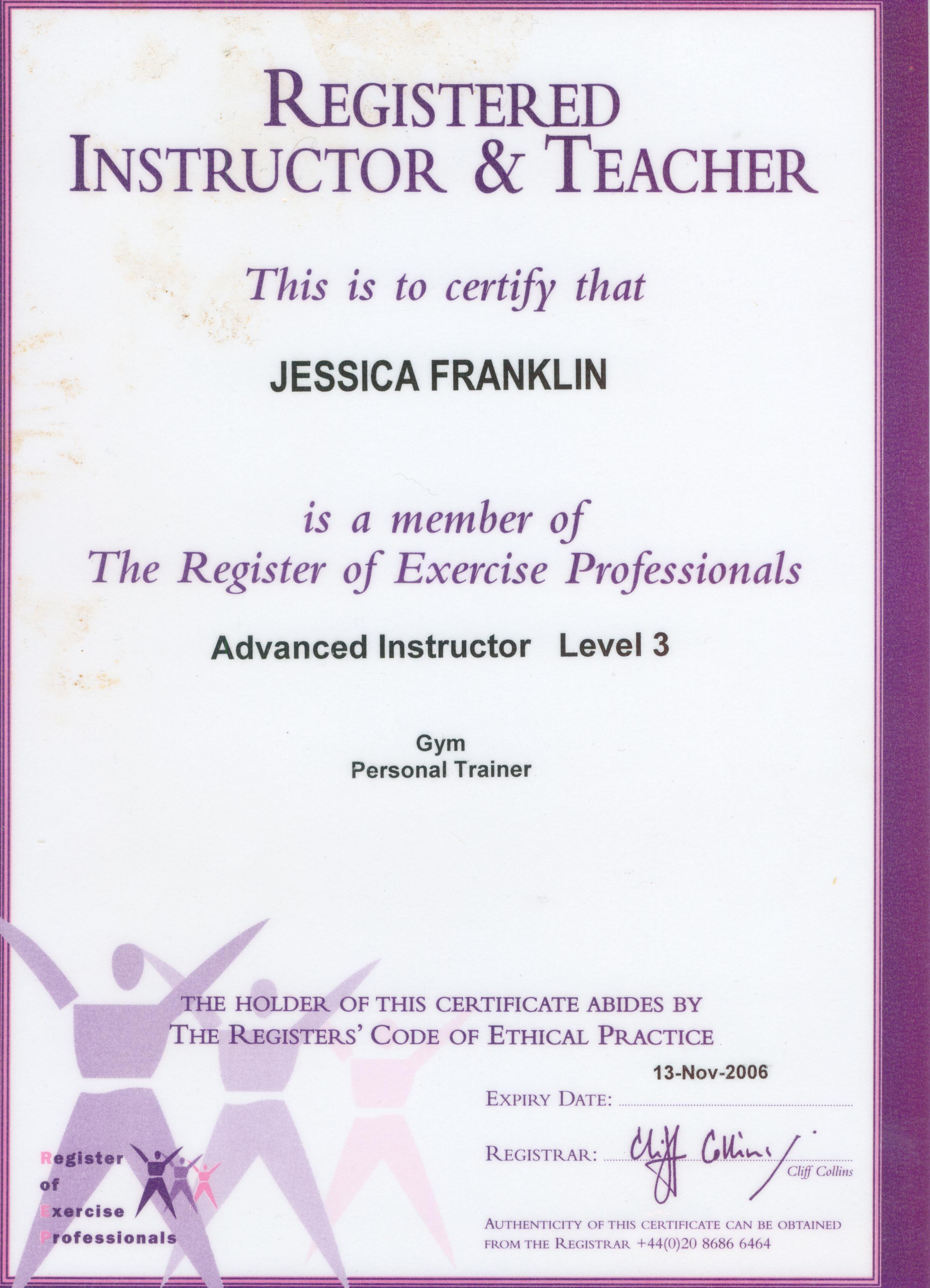 Certificates And Qualifications Certificate Iv In Fitness Certificate Iii In