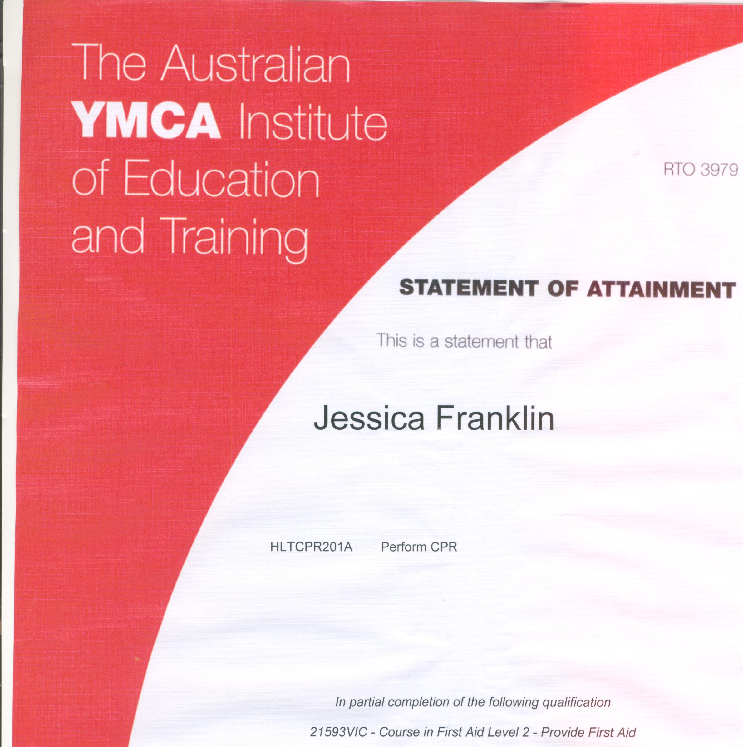 Ymcafirstaidcourseeg certificate 2 in first aid xflitez Gallery
